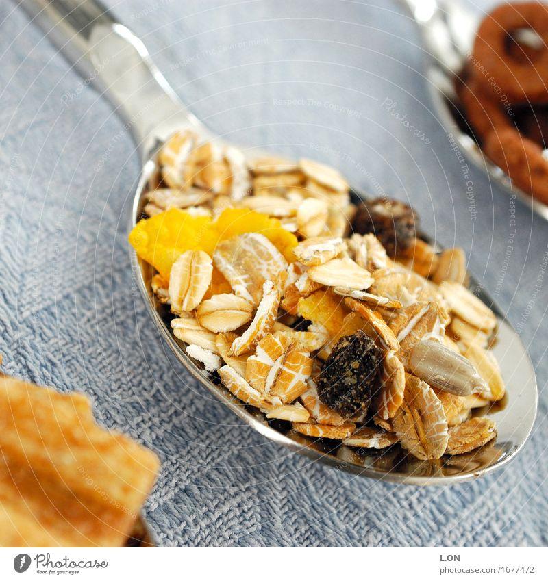LöffelchenGesundheit Lebensmittel Getreide Müsli Haferflocken Ernährung Frühstück Bioprodukte Vegetarische Ernährung Fasten Slowfood Essen gut trocken gelb
