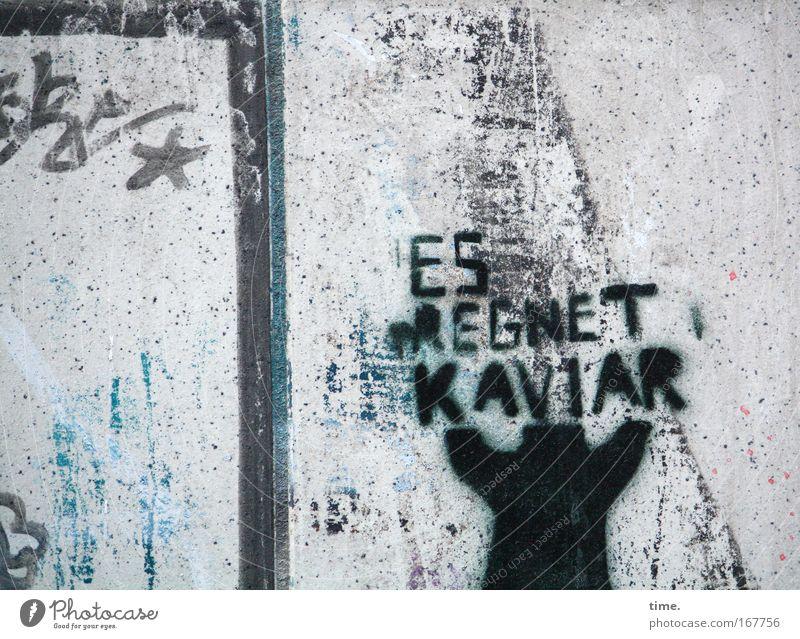 [HH09.2/1] - Feinschmeckermeile blau schwarz Wand grau Mauer Graffiti Kunst Beton Gemälde Kreativität Zeichnung Ikon Fisch Wandmalereien Kaviar