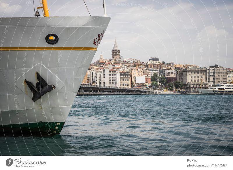 istanbul ferryboat Ferien & Urlaub & Reisen Tourismus Städtereise Kreuzfahrt Wirtschaft Umwelt Landschaft Wasser Horizont Sommer Schönes Wetter Wellen Küste