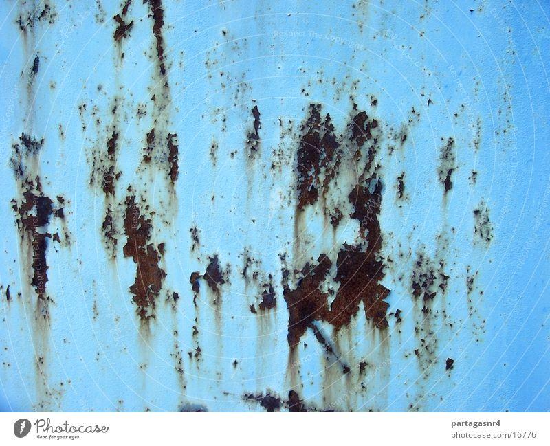 Background, verrostetes Stahlblech, hellblau Farbe Hintergrundbild Dinge verfallen Rost