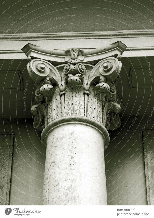 Säule mit Kapitell Architektur Sandstein