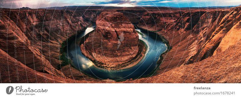 Horseshoe // Arizone // USA Natur Landschaft Erde Sand Wasser Himmel Wolken Gewitterwolken Horizont Sommer Schönes Wetter Regen Sträucher Fluss Sehenswürdigkeit