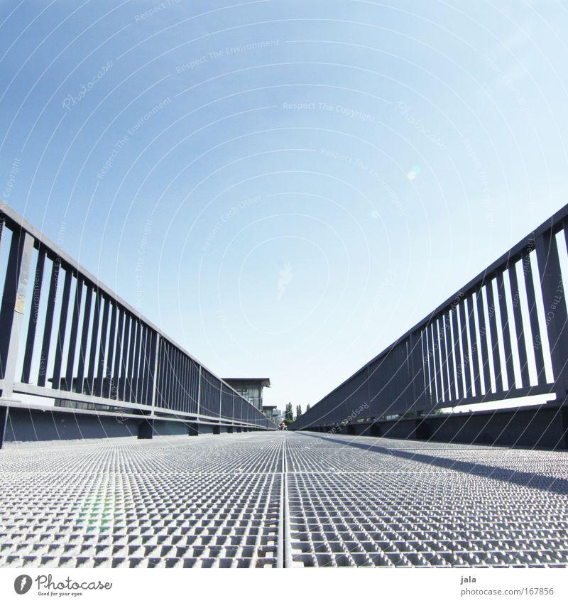 [PC-Usertreff Ffm]: Seitenwechsel Himmel blau weiß Freude Architektur grau hell Brücke Bauwerk Stahl Schönes Wetter Frankfurt am Main Konstruktion gigantisch