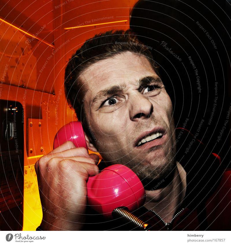 verwählt Mensch Mann Erwachsene Gesicht Leben Gefühle sprechen Kopf Traurigkeit Denken Stimmung Mund Telefon Kommunizieren Zähne Telekommunikation