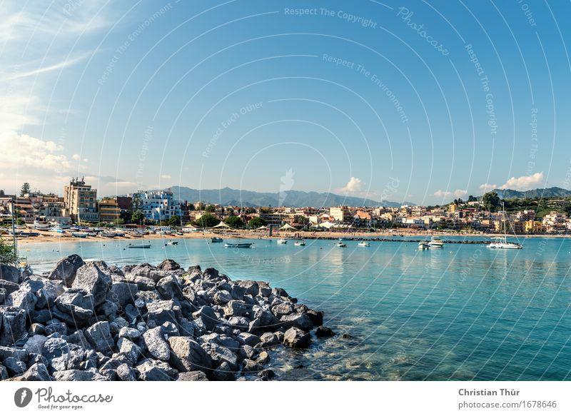 Hafenblick harmonisch Wohlgefühl Zufriedenheit Sinnesorgane Schwimmen & Baden Ferien & Urlaub & Reisen Tourismus Ausflug Sommerurlaub Meer Insel Naxos Italien