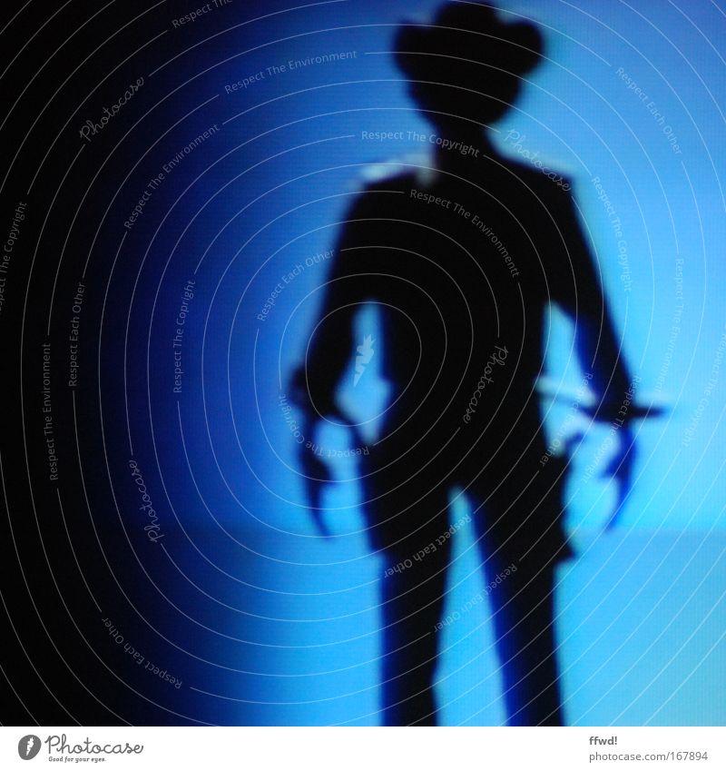 highnoon um dreiviertelzehn Mensch Mann ruhig kalt Kraft Angst Erwachsene maskulin Sicherheit Coolness gefährlich bedrohlich Schutz beobachten Mut Wachsamkeit