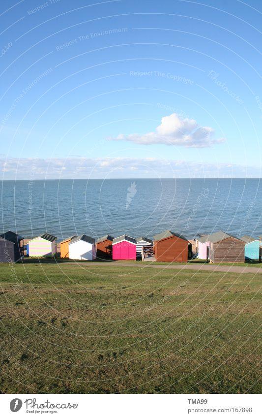 Duplo-Haus I Natur Himmel Meer Sommer Strand Ferien & Urlaub & Reisen Wolken Ferne Gras Freiheit Landschaft Küste Horizont Sightseeing