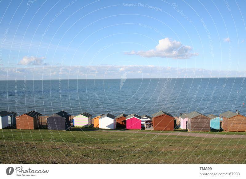 Duplo-Haus II Farbfoto mehrfarbig Außenaufnahme Menschenleer Textfreiraum oben Textfreiraum unten Totale Natur Landschaft Wasser Himmel Wolken Horizont Sommer