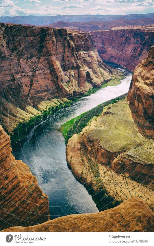 Horseshoe Bend (Arizona) [7] Natur schön Wasser Landschaft Berge u. Gebirge Ausflug Aussicht genießen Fluss USA Sehenswürdigkeit Amerika fließen Nationalpark