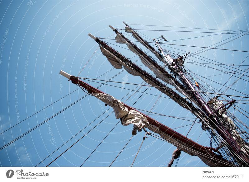 tall ships! Himmel Ferien & Urlaub & Reisen Wasserfahrzeug Abenteuer Schifffahrt Segeln Mast Kreuzfahrt himmelblau Segelschiff Pirat Jacht Bootsfahrt Licht
