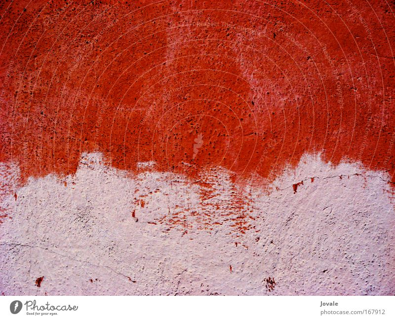 ror, rot, rosa rot Leben Wand Sand Wärme Stein Mauer Angst rosa Fassade wild verrückt Schönes Wetter Leidenschaft schreien Mut
