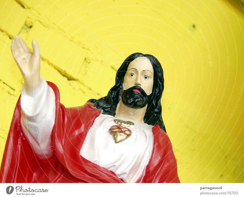 Kommet ... Jesus Christus Religion & Glaube Tracht Christentum Skulptur Gebet Ausstellung Kitsch Götze Herz Verehrung