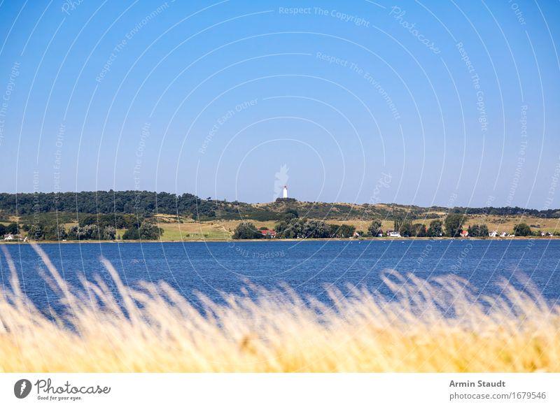 Leuchtturm Hiddensee - aber ganz klein Ferien & Urlaub & Reisen Tourismus Ausflug Ferne Sommer Sommerurlaub Natur Landschaft Wasser Wolkenloser Himmel