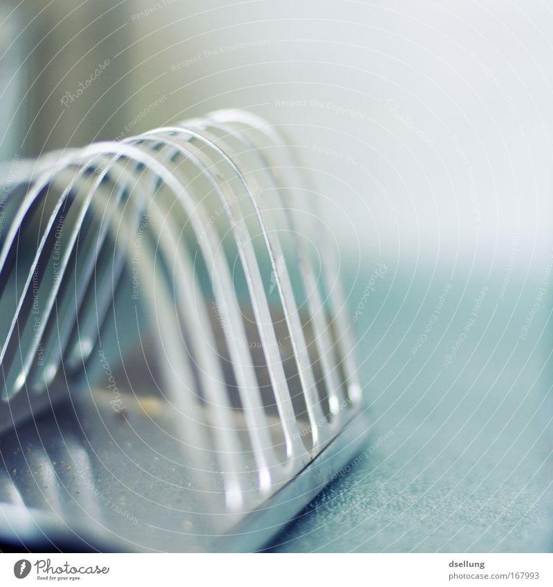 Ein Quantum Toast blau kalt grau Metall Küche Geschirr Krümel Edelstahl Raum rostfrei Rostfreier Stahl