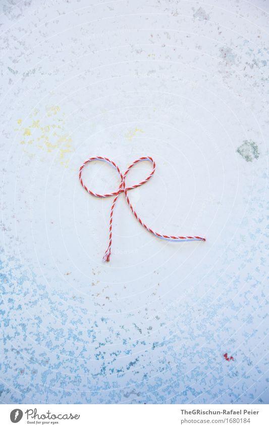 Geschenkmasche Kunst blau grau grün orange rosa rot türkis weiß Schlaufe Farbfleck Dekoration & Verzierung Nähgarn Strukturen & Formen Hintergrundbild schenken