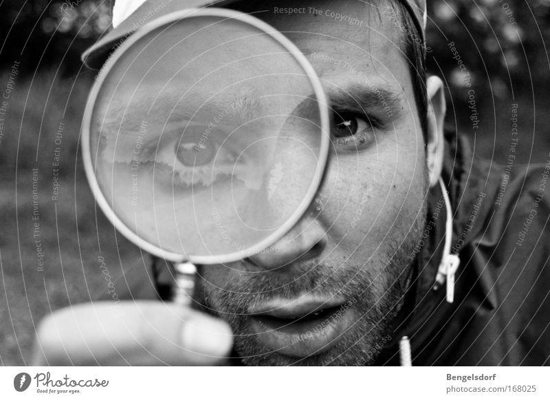 Die Leidenschaft des Herrn M. Mensch Natur Gesicht Auge Denken Mund Erde Studium lernen Zukunft Bildung Student Spiegel Wissenschaften Neugier entdecken