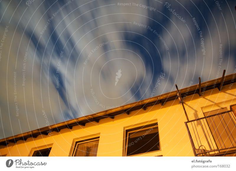 Wolkenflug Himmel Haus Kunst Wetter Umwelt Klimawandel
