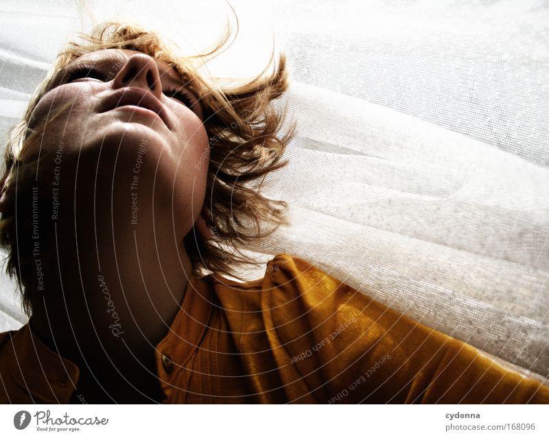 Belichtungszeit Mensch Frau Jugendliche schön Gesicht Erwachsene Leben Gefühle Bewegung Kopf Traurigkeit träumen Zeit Kraft elegant Energiewirtschaft