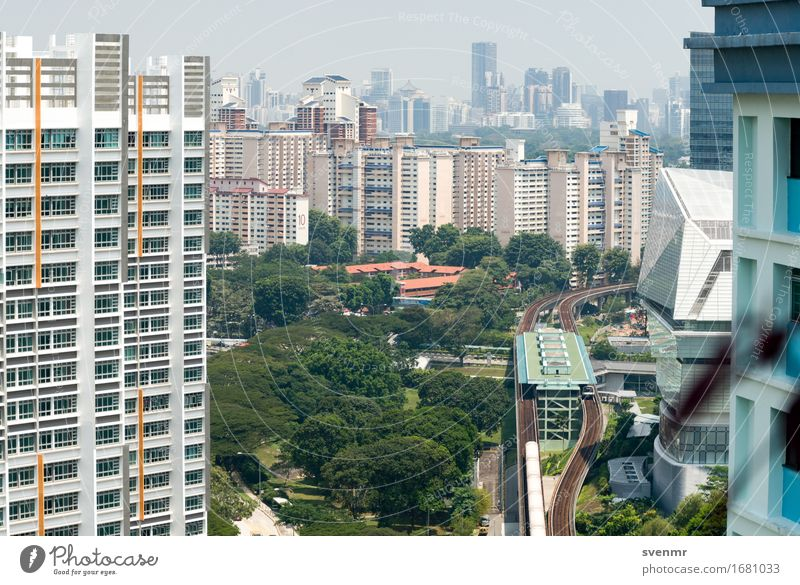 Singapore MRT Station Buona Vista Ferien & Urlaub & Reisen Tourismus Ferne Städtereise Baum Asien Stadt Skyline überbevölkert Haus Hochhaus Gebäude Architektur