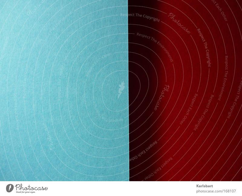 dualism. Basteln Dekoration & Verzierung Kunst Medien Printmedien Neue Medien Papier blau rot Zufriedenheit Design Farbe gleich modern Symmetrie Schatten Karton