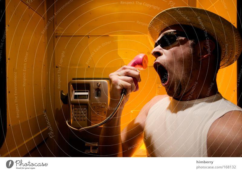 quatsch keine opern Mensch Mann Jugendliche sprechen Gefühle Stil Stimmung Erwachsene maskulin Design Telefon Lifestyle Technik & Technologie Kommunizieren Telekommunikation Wut