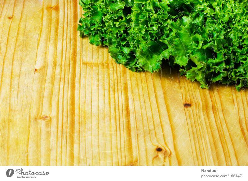 Beilage grün Holz Gesundheit frisch Ernährung lecker Bioprodukte Vitamin Salat Schneidebrett Salatbeilage Vegetarische Ernährung Gemüse