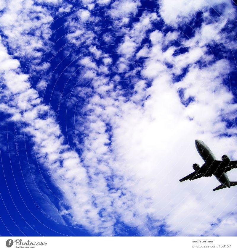 Freiheit! Himmel weiß blau Sommer Strand Ferien & Urlaub & Reisen ruhig Wolken Erholung Flugzeug groß frei Lifestyle Luftverkehr Insel Tourismus