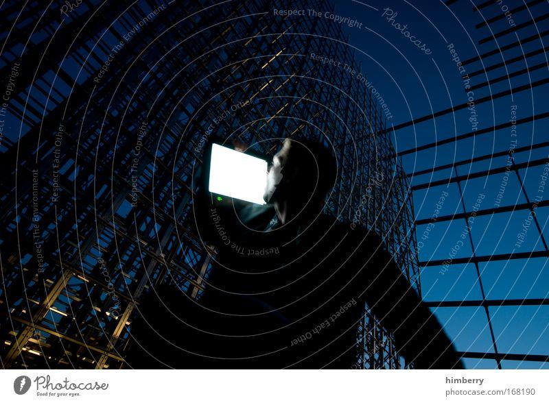 netzwerker Mensch Mann Leben Arbeit & Erwerbstätigkeit Stil Stimmung Erwachsene Business hell Design maskulin Energiewirtschaft Lifestyle Zukunft Internet