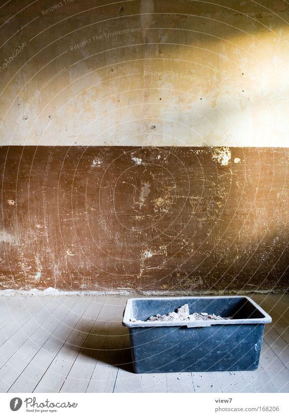 Bauplatz alt schwarz Wand Mauer braun Raum dreckig kaputt Ziel Wandel & Veränderung Baustelle Dekoration & Verzierung Müll Innenarchitektur