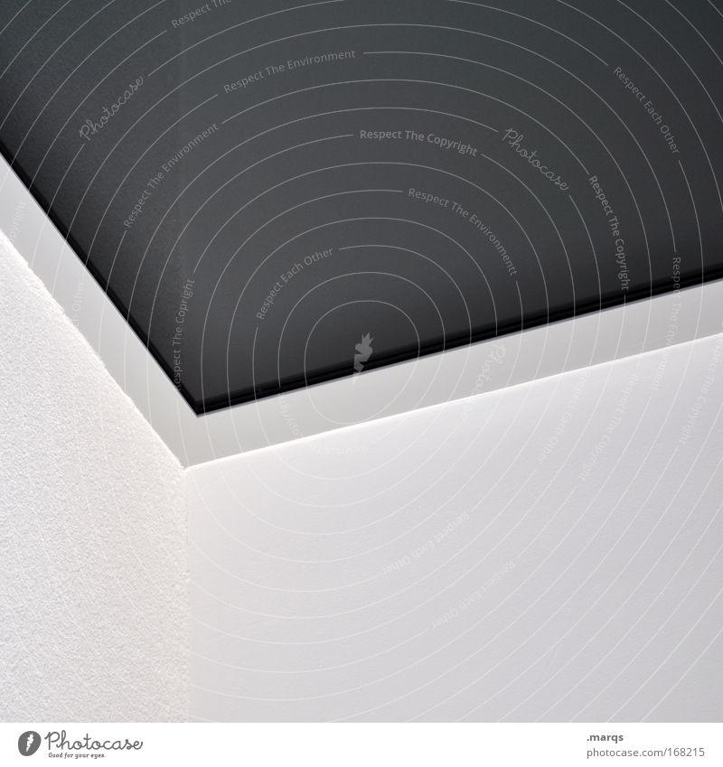 Grafik Schwarzweißfoto Außenaufnahme Experiment abstrakt Textfreiraum oben Textfreiraum unten elegant Stil Design Bauwerk Architektur Mauer Wand Beton Linie