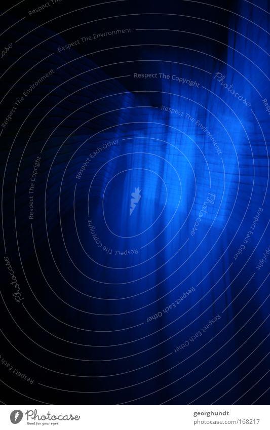 LightingDesign Blue blau Ferne schwarz kalt Linie Kunst Glas glänzend ästhetisch Energiewirtschaft Netzwerk Technik & Technologie Show außergewöhnlich leuchten