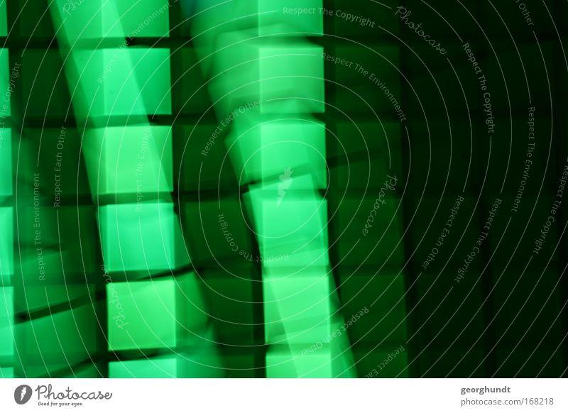 LightingDesign Green grün Stadt schwarz Farbe Linie Kunst glänzend Lifestyle Industrie Zukunft Technik & Technologie Netz Medien Zeichen Kreuz Bildschirm