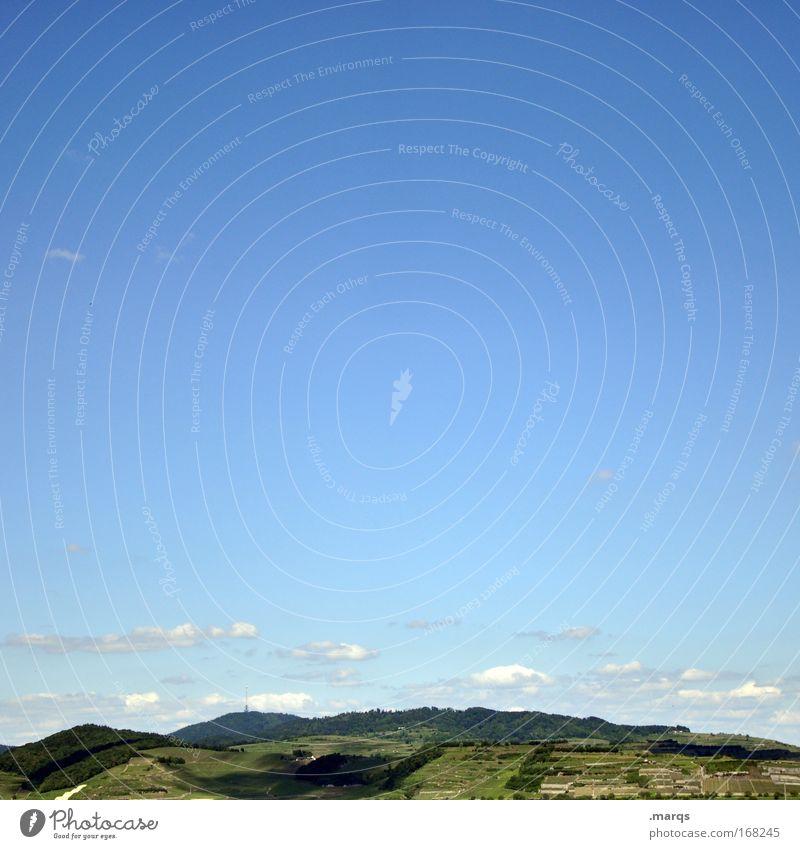 Des Kaisers Stuhl Himmel blau grün Sommer Ferien & Urlaub & Reisen Ferne Erholung Umwelt Landschaft Freizeit & Hobby Horizont Ausflug Tourismus Wachstum Wandel & Veränderung Hügel