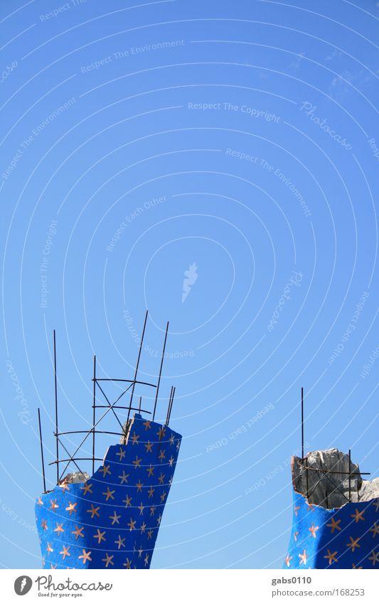 Sternenhimmel under construction Himmel weiß blau Sommer grau Kunst Design Umwelt Stern (Symbol) Baustelle Klima Dekoration & Verzierung Veranstaltung trashig Bühne