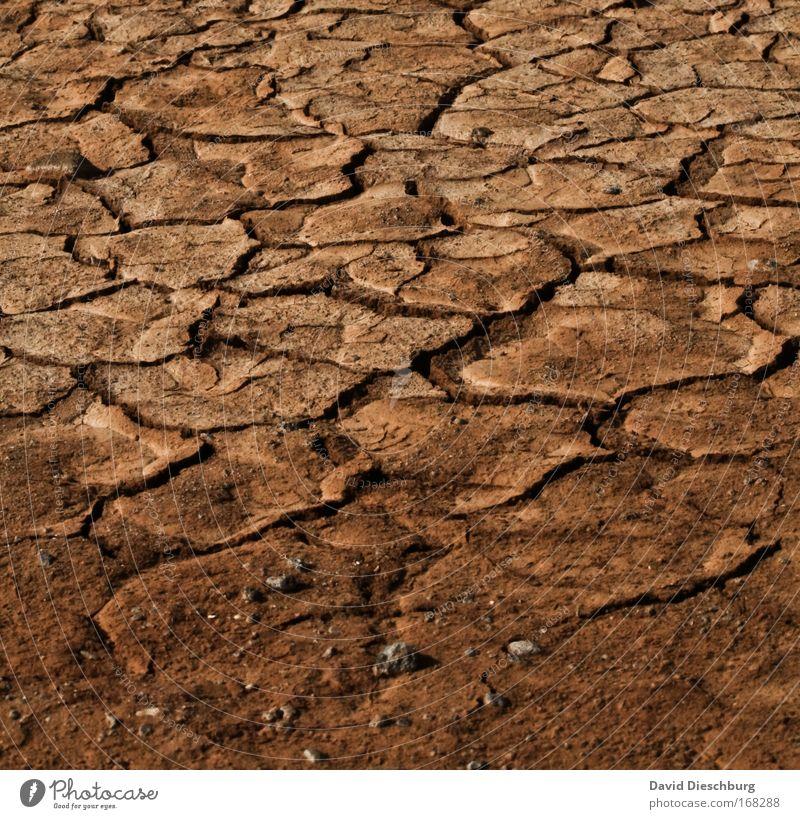 Dürreperiode Natur Landschaft Umwelt Sand braun Hintergrundbild Erde Urelemente kaputt Boden trist Wüste trocken Riss vertrocknet Klimawandel