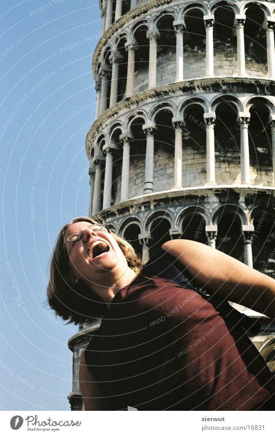 schiefer turm von pisa mit heidi Italien Europa PISA-Studie Turm Freude Neigung Architektur