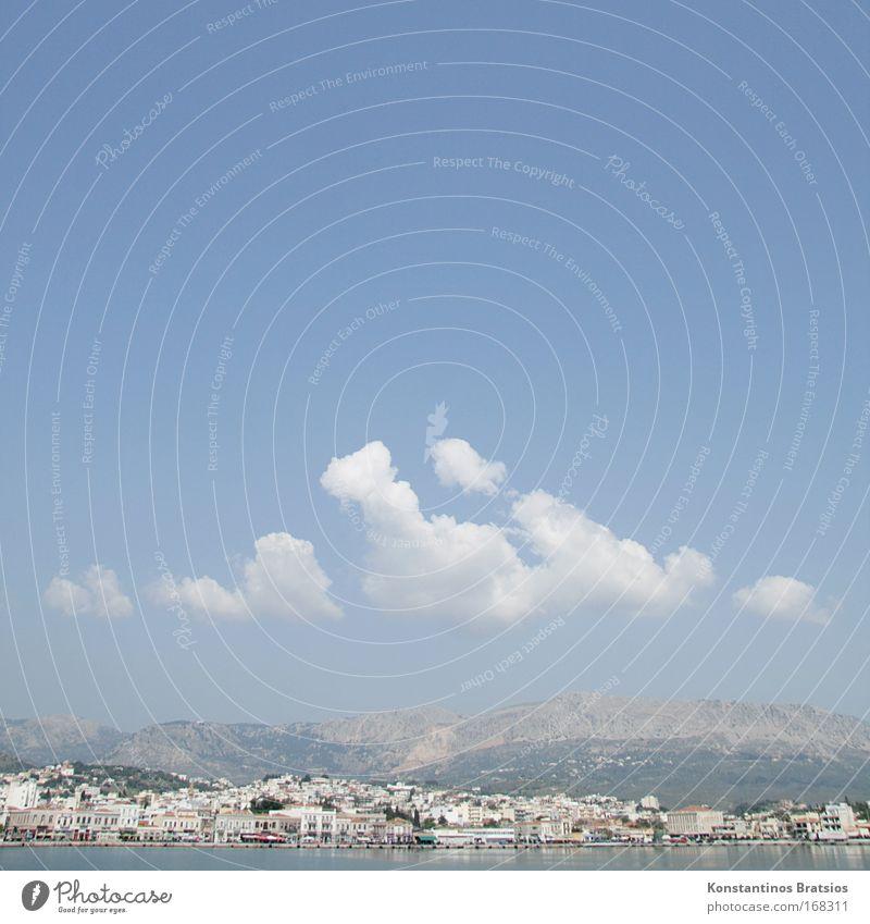3 Wochen, mit Blick auf den Hafen 326,- Himmel Sommer Meer Ferien & Urlaub & Reisen Wolken Erholung Zufriedenheit Insel Tourismus Europa Kultur Hügel