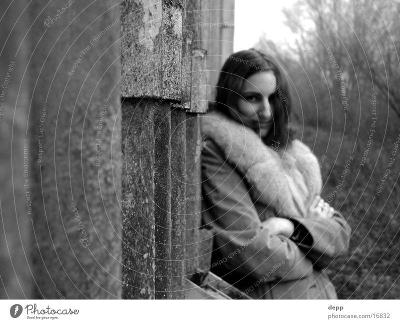 das bin ich Frau schön Haare & Frisuren Fabrik Fell trashig Mantel
