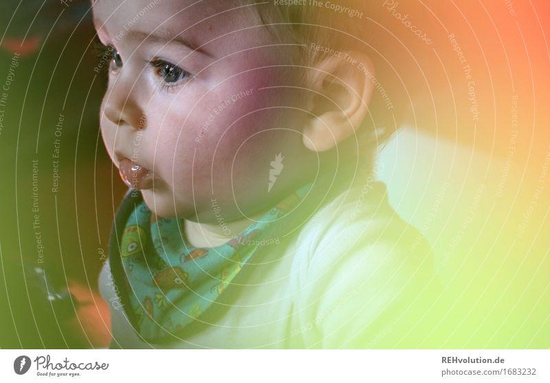 warten auf den abendbrei Mensch maskulin Kind Baby 1 0-12 Monate beobachten sitzen klein niedlich mehrfarbig Verantwortung achtsam Fürsorge Kindheit Farbfoto