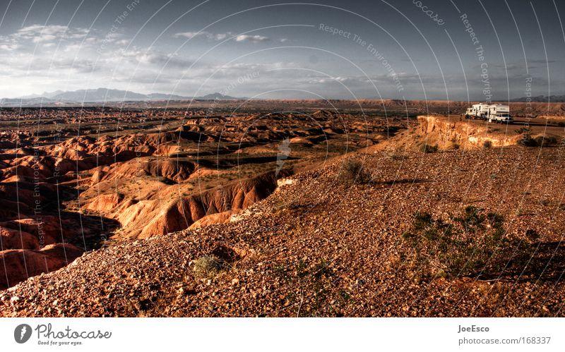 wohnwagen romantik Natur Ferien & Urlaub & Reisen Wolken Ferne Freiheit Gefühle Landschaft Sand Stimmung Erde Zufriedenheit Felsen USA Wüste Hügel