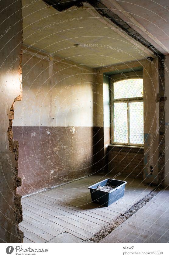 Andacht Haus Wand Fenster Stein Mauer Gebäude braun Raum dreckig Architektur Zeit Fassade Baustelle Ordnung retro Pause