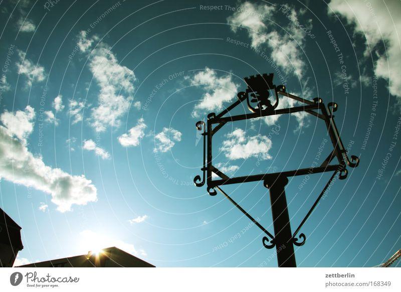 Informationstafel (unsichtbar) Himmel Sonne Wolken Berlin Schilder & Markierungen Kommunizieren Bild Vergangenheit historisch Rahmen Bilderrahmen Mitteilung