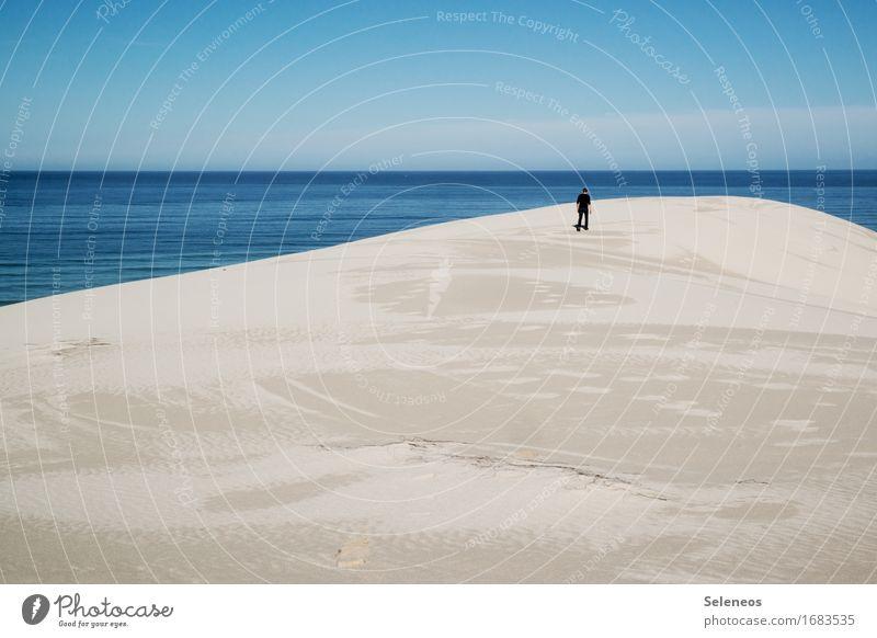 Ruhe Sinnesorgane Erholung ruhig Ferien & Urlaub & Reisen Ausflug Ferne Freiheit Sommer Sommerurlaub Sonne Strand Meer 1 Mensch Umwelt Natur Landschaft Himmel