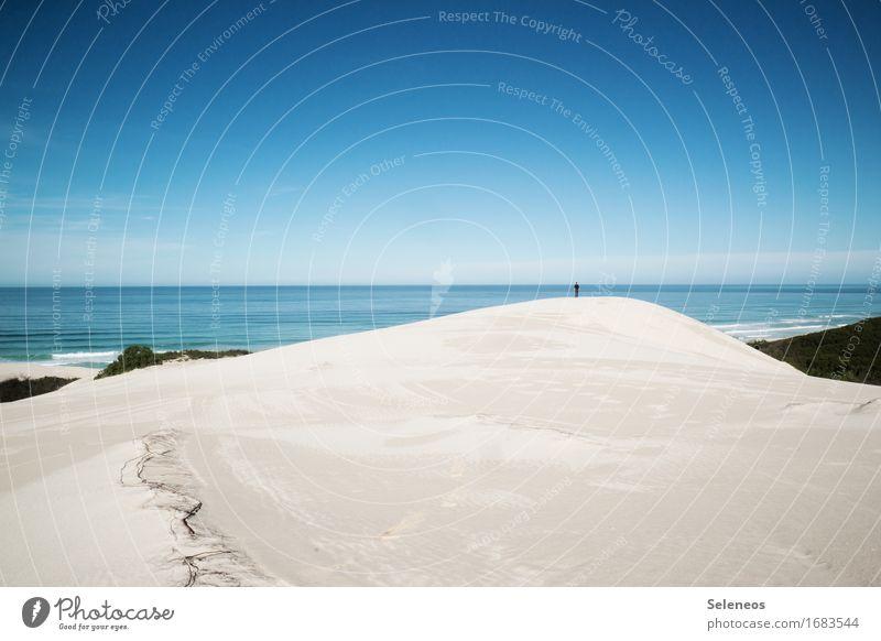 Sandkastenliebe Mensch Himmel Natur Ferien & Urlaub & Reisen Sommer Sonne Meer Landschaft Erholung ruhig Ferne Strand Umwelt Küste Freiheit Tourismus