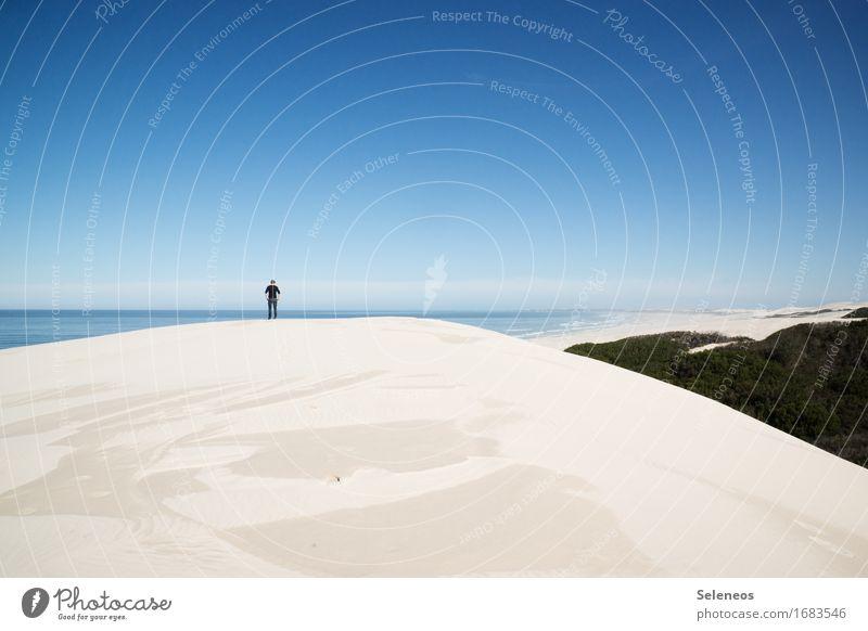 am Ende der Welt Mensch Natur Ferien & Urlaub & Reisen Sommer Landschaft Meer Erholung Einsamkeit ruhig Ferne Strand Umwelt Freiheit Tourismus Horizont