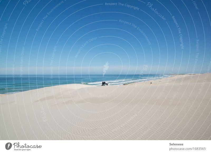 lonely Planet Mensch Himmel Ferien & Urlaub & Reisen Meer Erholung Einsamkeit ruhig Strand Ferne Küste Freiheit Horizont Zufriedenheit frei Ausflug Abenteuer