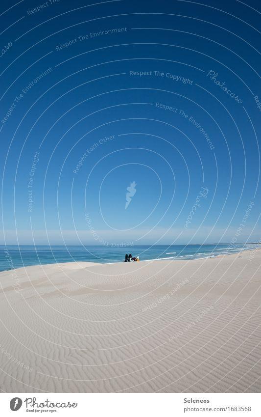 Wochenende Mensch Himmel Ferien & Urlaub & Reisen Meer Landschaft Erholung Einsamkeit ruhig Ferne Strand Küste Freiheit Tourismus Horizont Zufriedenheit Ausflug