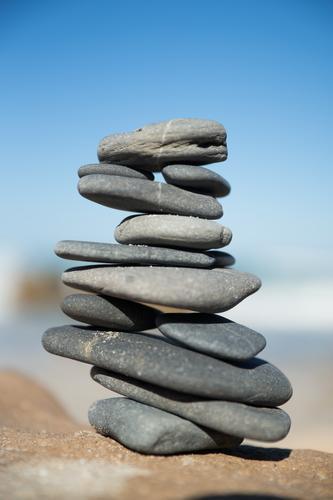 Gleichgewicht harmonisch Wohlgefühl Zufriedenheit Erholung ruhig Meditation Ferien & Urlaub & Reisen Tourismus Ausflug Strand Meer Gelassenheit Farbfoto