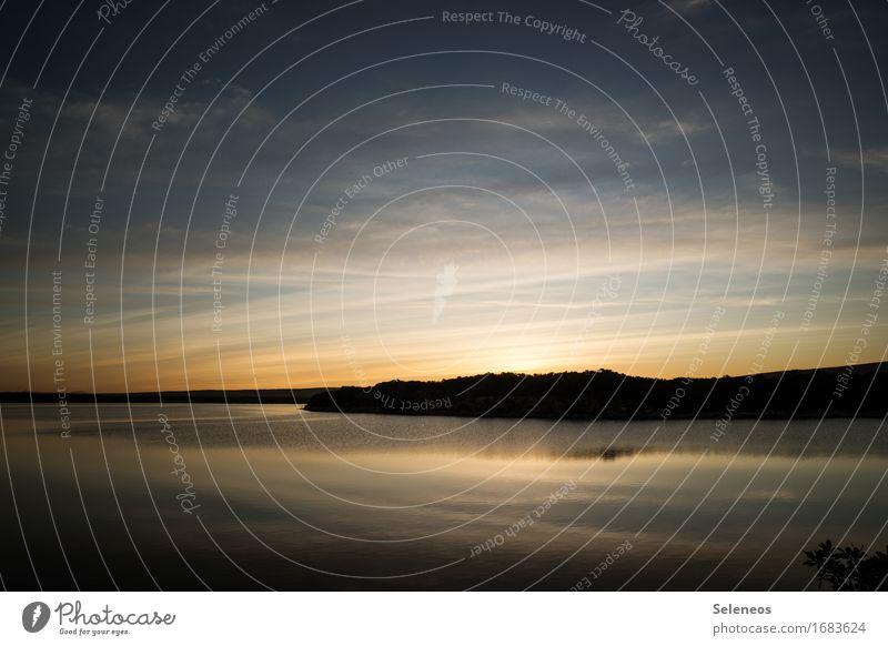 still ruht der See Himmel Natur Ferien & Urlaub & Reisen Sommer Wasser Landschaft Erholung Wolken ruhig Umwelt Küste Schwimmen & Baden Tourismus Horizont