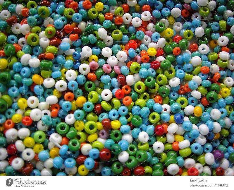 Knallbunt Farbe planen klein Glas rund mehrfarbig Loch Kreativität Basteln Vielfältig Inspiration
